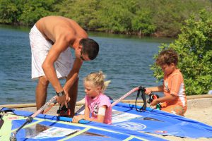 Windsurfing holiday activity kids instruction